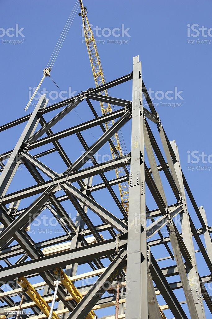 metallic girders royalty-free stock photo