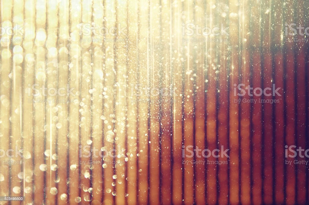 metallic glitter vintage lights background. defocused. stock photo