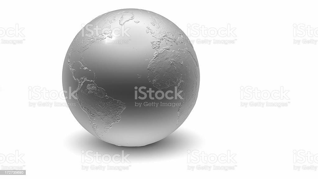 Metallic Globe: Atlantic royalty-free stock photo