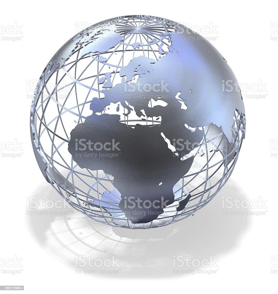Metallic Globe stock photo