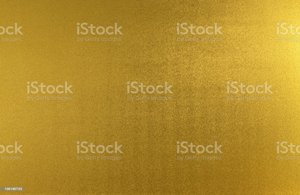 Metallic gold sheet with ripples  stock photo