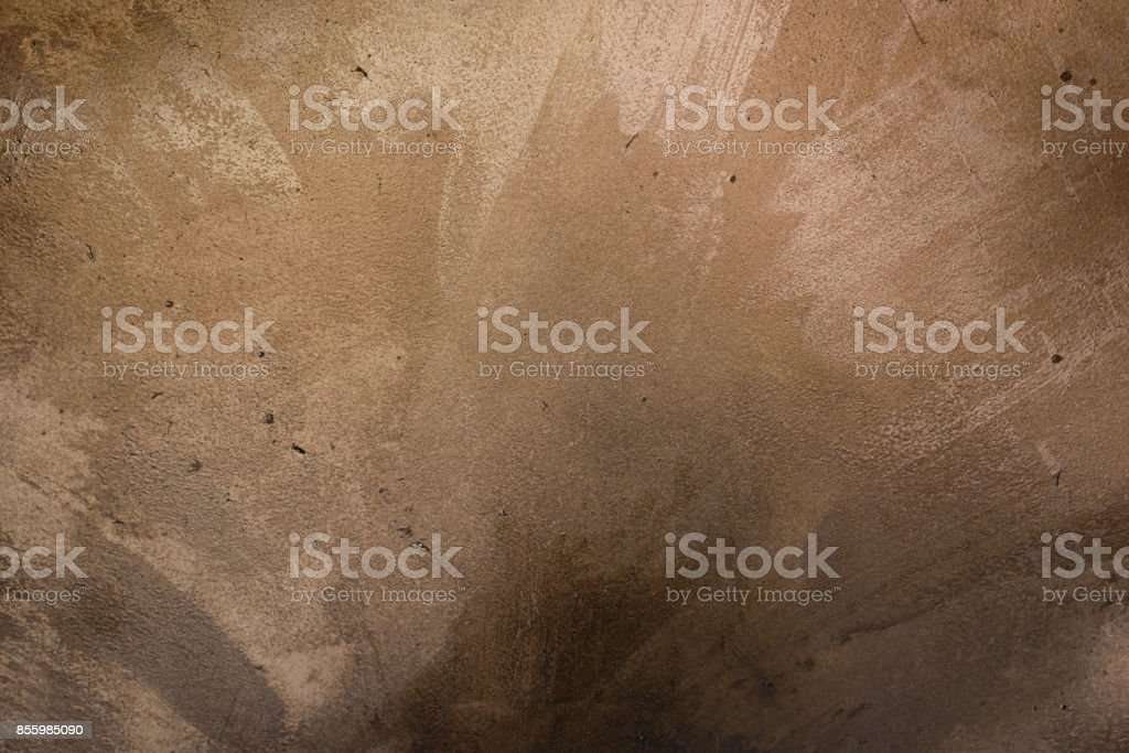 Metallic golden block tile with bolts floor reflecting bright light. Industrial abstract background concept stock photo