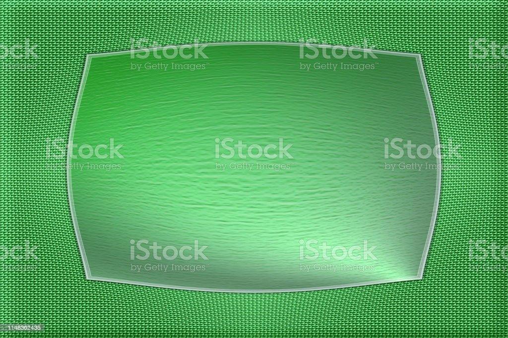 Metallic green gradient business decorative background