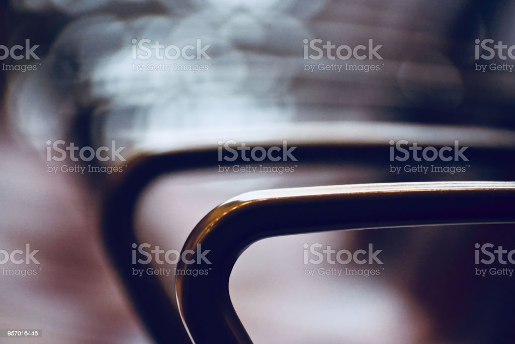 Metallic handles of chair isolated unique photo royalty-free stock photo