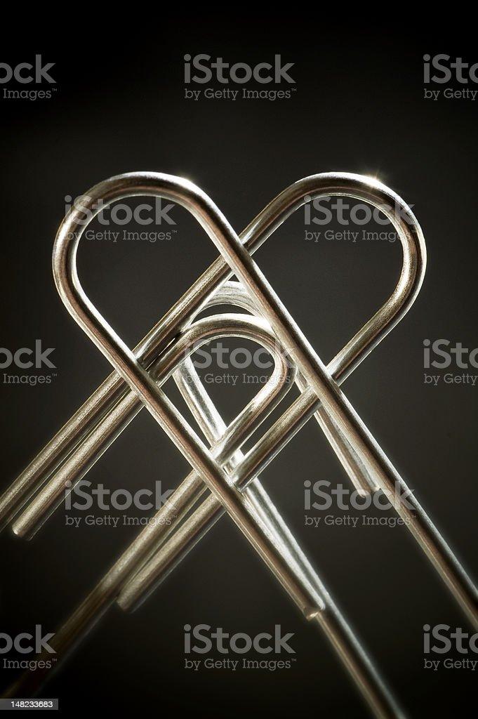 Metallic heart royalty-free stock photo