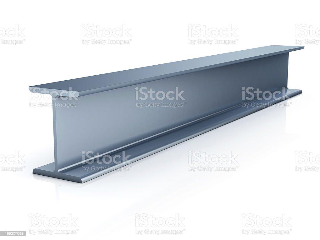 metallic joist isolated stock photo