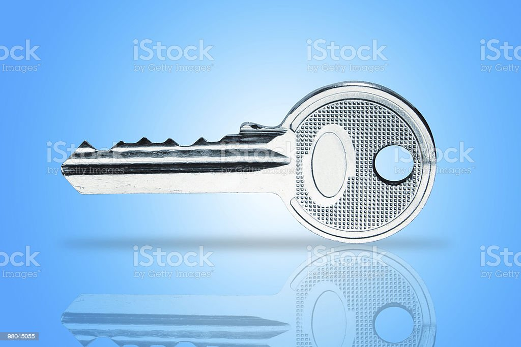 metallic key royalty-free stock photo