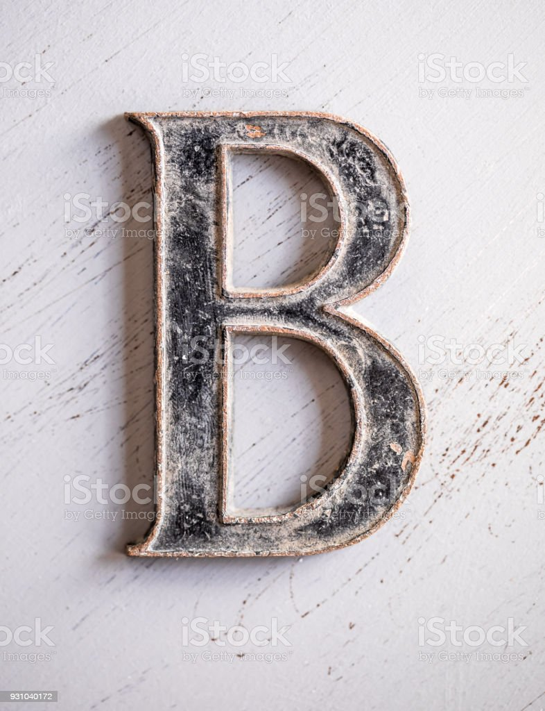 Metallic Letters stock photo