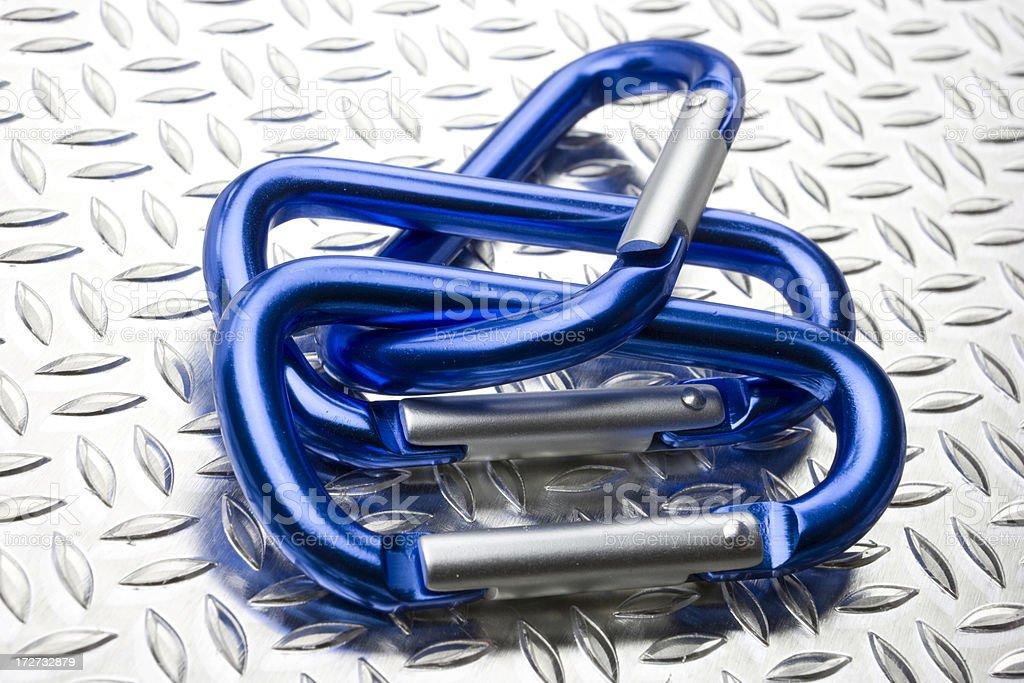 Metallic links stock photo