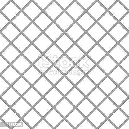 1176496357 istock photo Metallic net monochromatic texture on white background. Isolated 3D illustration 1191348086