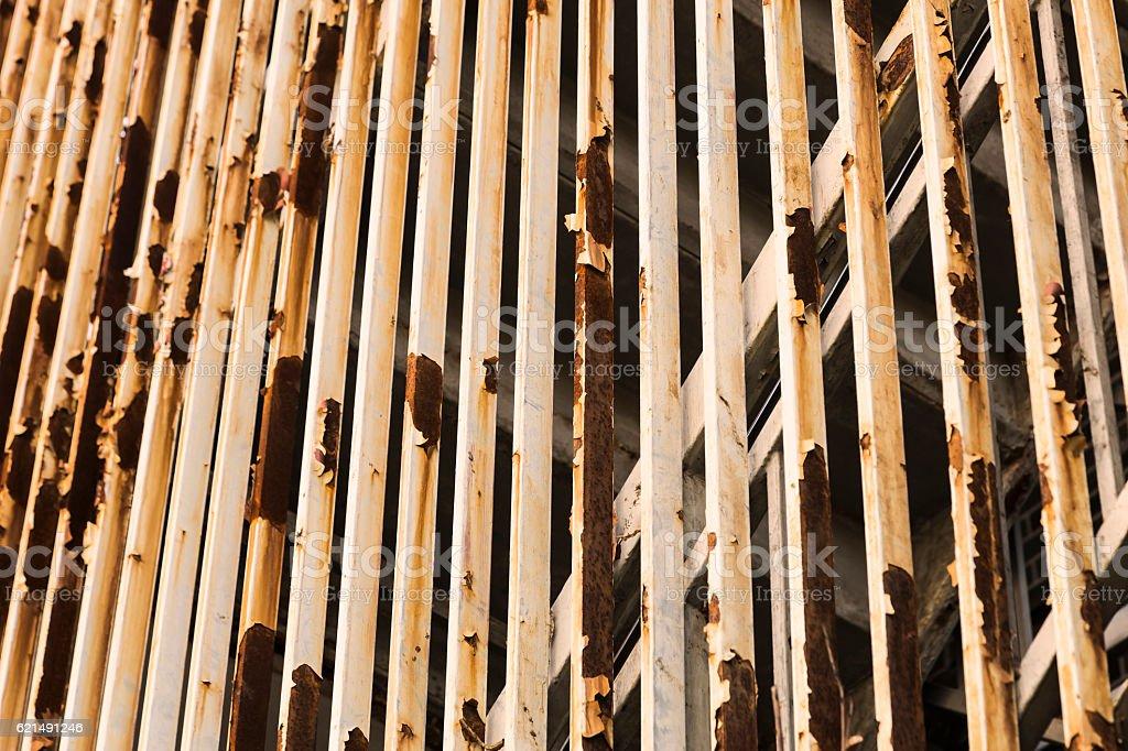 Metallic outer staircase wall Lizenzfreies stock-foto