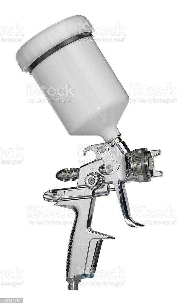 metallic paint gun stock photo