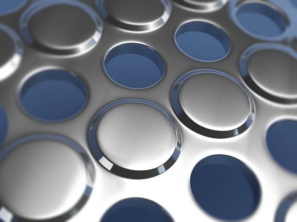 Metallic Perforated Texture stock photo
