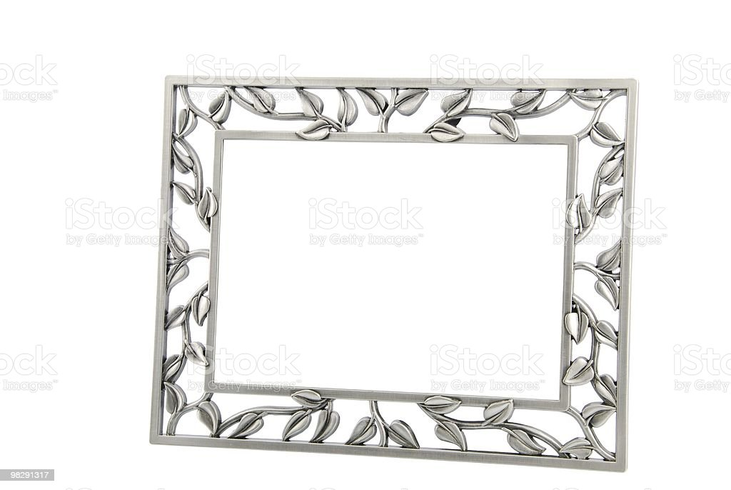 Metallic photo-frame royalty-free stock photo