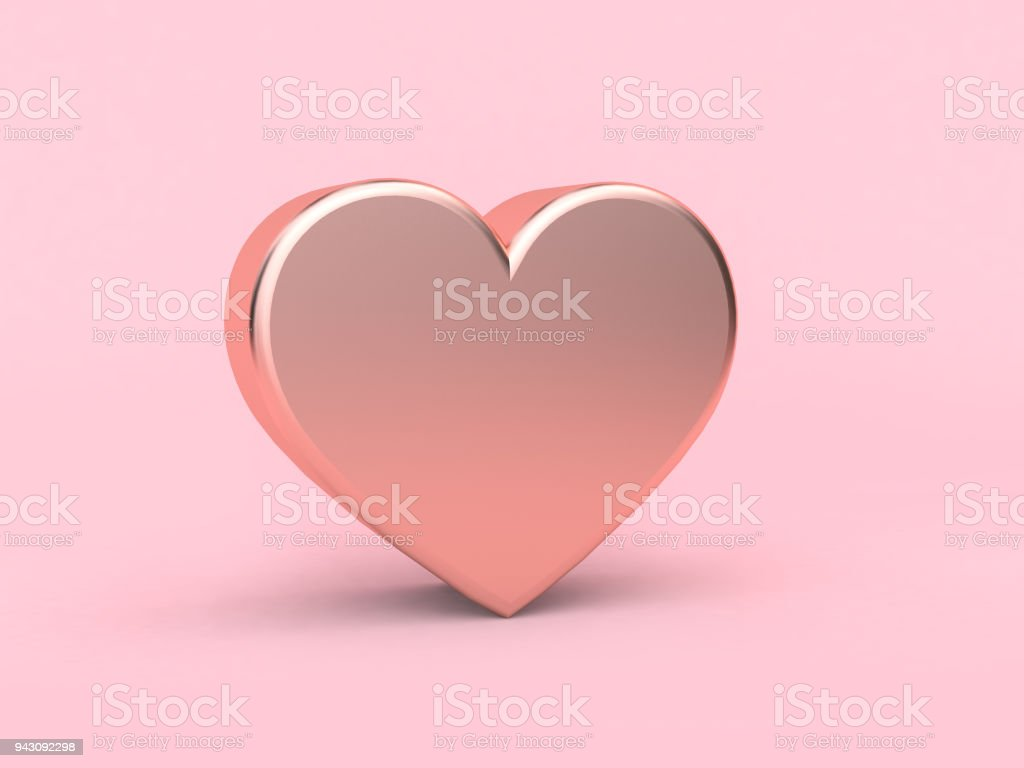 metallic pink heart love valentine concept 3d rendering picture id943092298