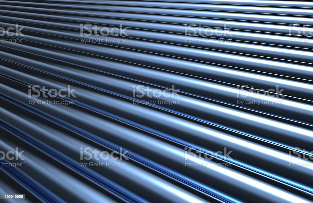 A metallic pipe striped background stock photo