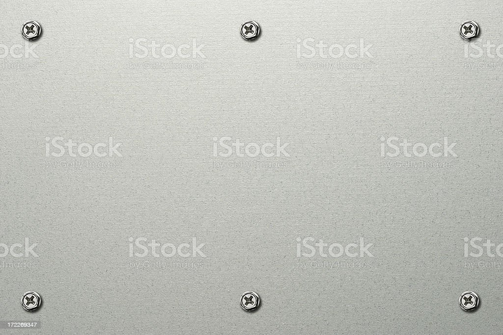 Metallic Plate stock photo