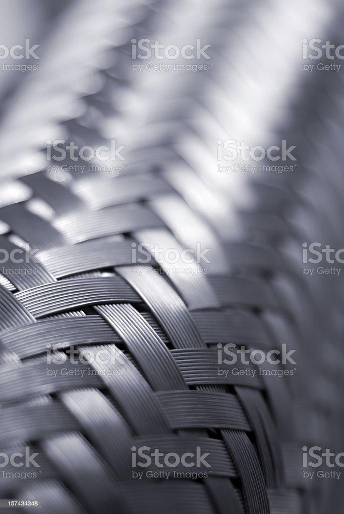 Metallic power line detail background stock photo