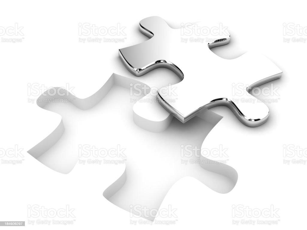 Metallic Puzzle royalty-free stock photo