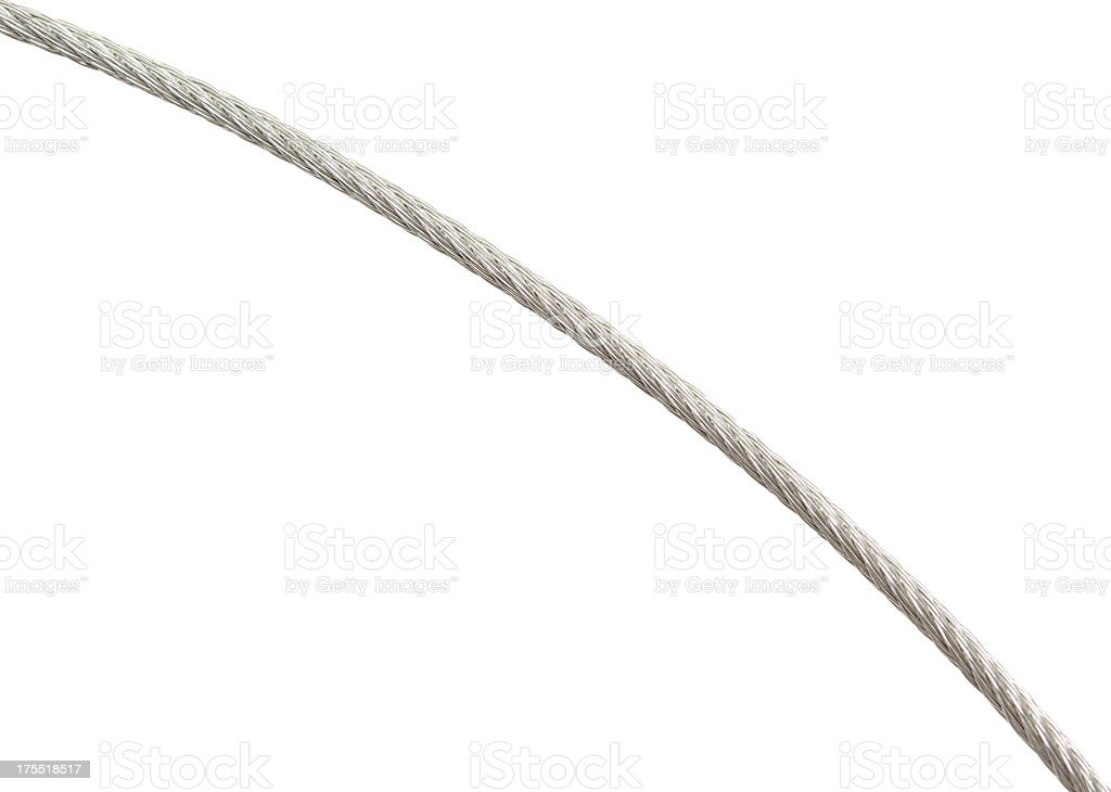 metallic rope stock photo