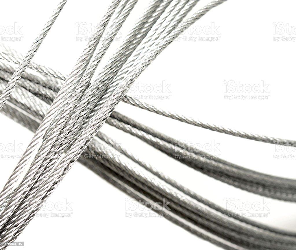 metallic rope stock photo