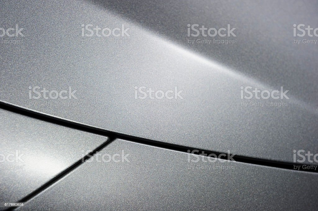 Metallic sedan bodywork stock photo