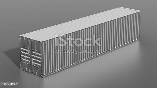 944243850 istock photo Metallic ship cargo container 937278362