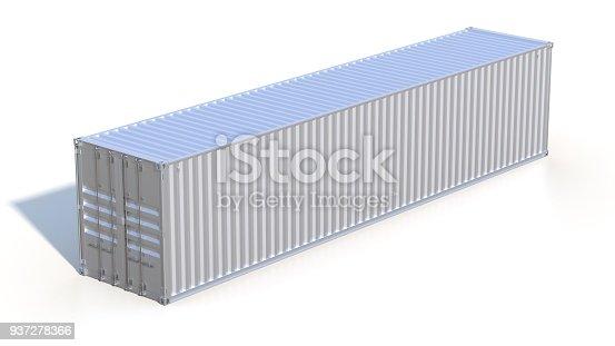 944243850 istock photo Metallic ship cargo container 937278366