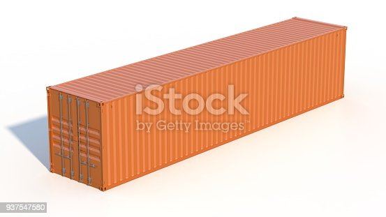 944243850 istock photo Metallic ship cargo container 937547580