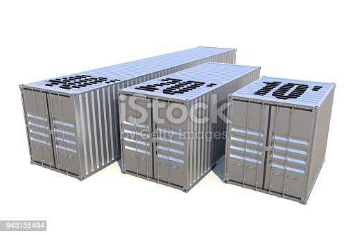 944243850 istock photo Metallic ship cargo containers 10 20 and 40 feet length 943155494