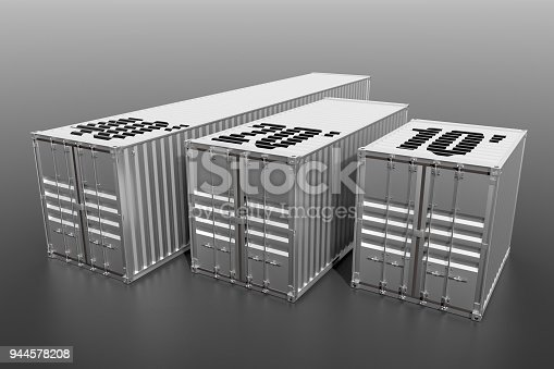 944243850 istock photo Metallic ship cargo containers 10 20 and 40 feet length 944578208