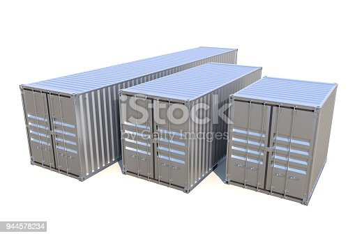 944243850 istock photo Metallic ship cargo containers 10 20 and 40 feet length 944578234