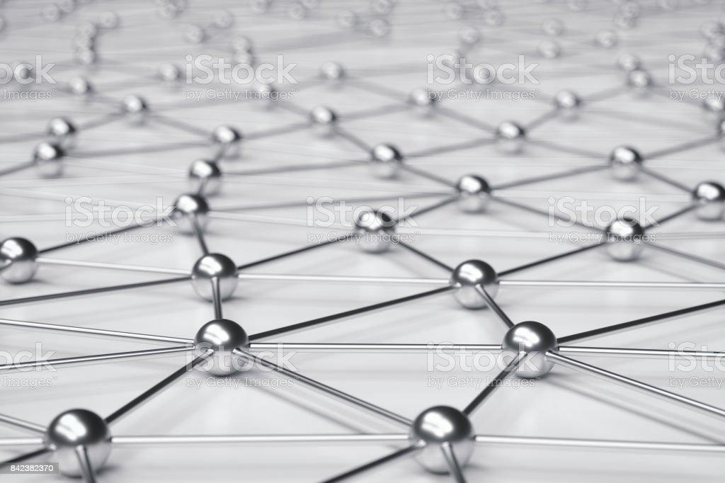 Metallic Spheres-Netzwerk – Foto