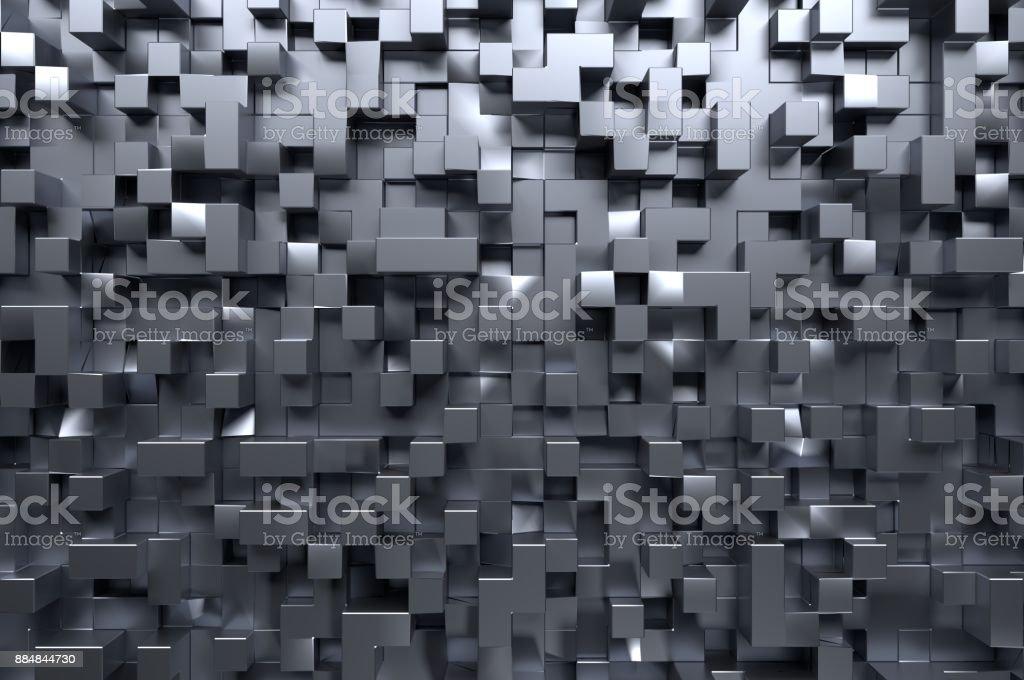 Metallic-Quadrat-Muster – Foto