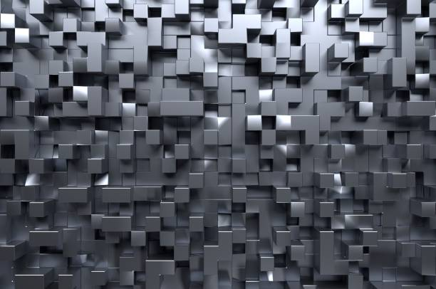Metallic Square Pattern stock photo