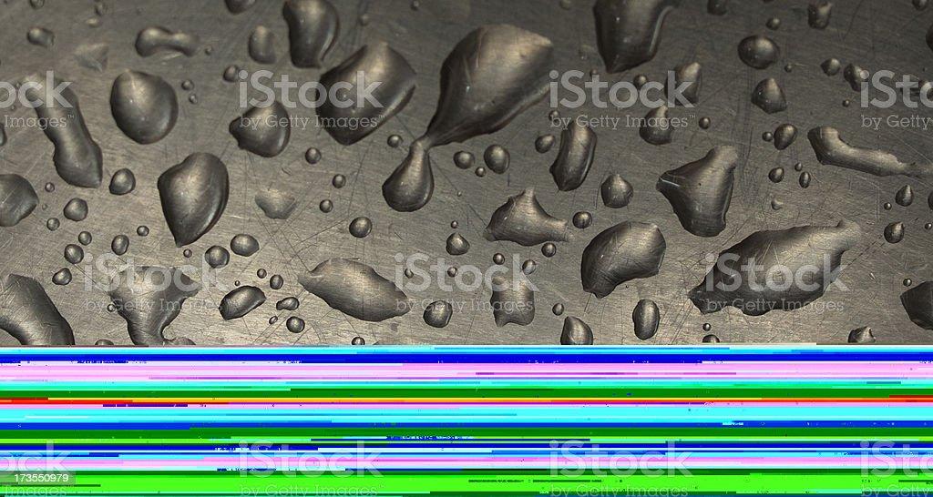 Metallic surface royalty-free stock photo