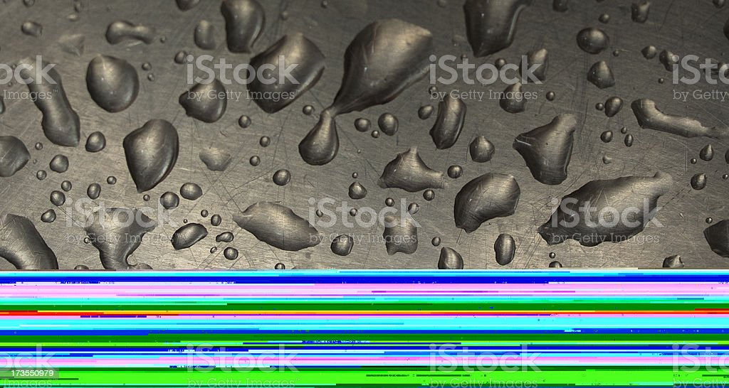 Metallic surface stock photo