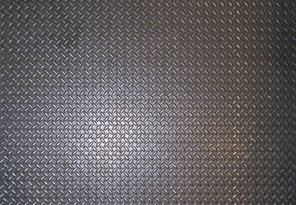 metallic texture, metal surface with a pattern - diamond plate background stock photos and pictures