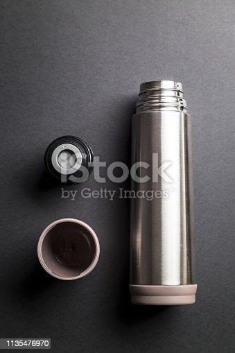 istock Metallic thermos 1135476970
