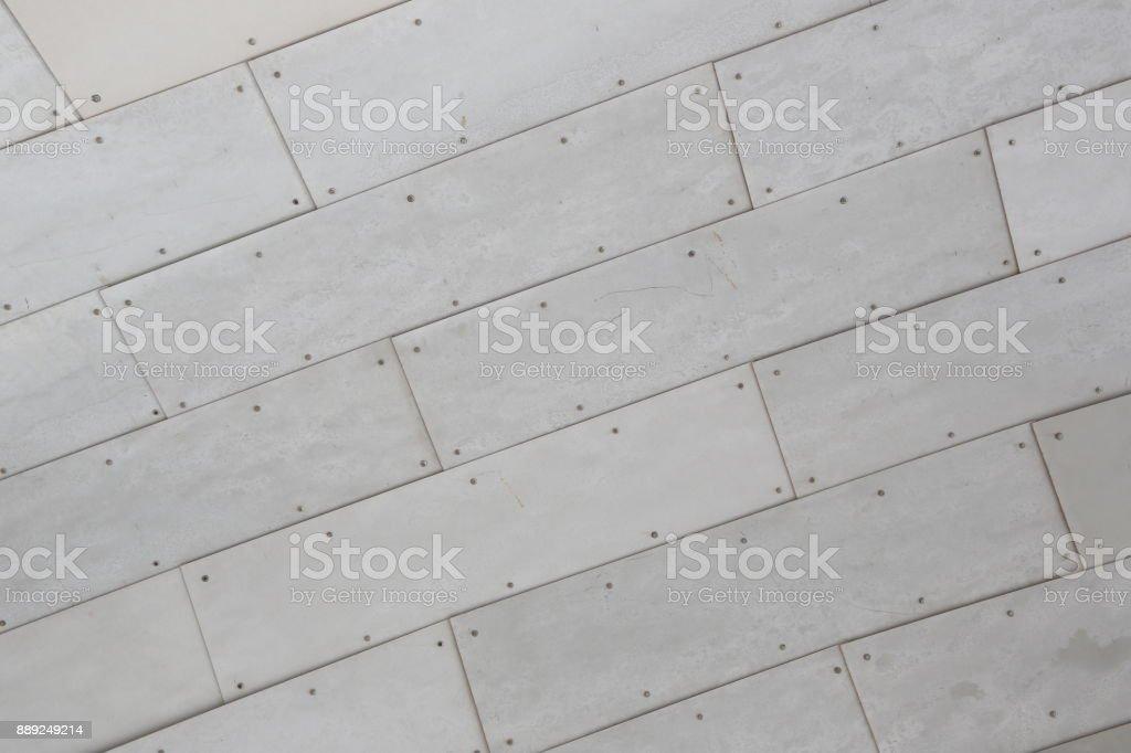 Metallic tile wall. Close up stock photo