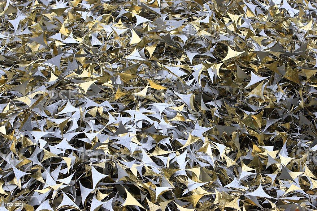 Metallic trim stock photo