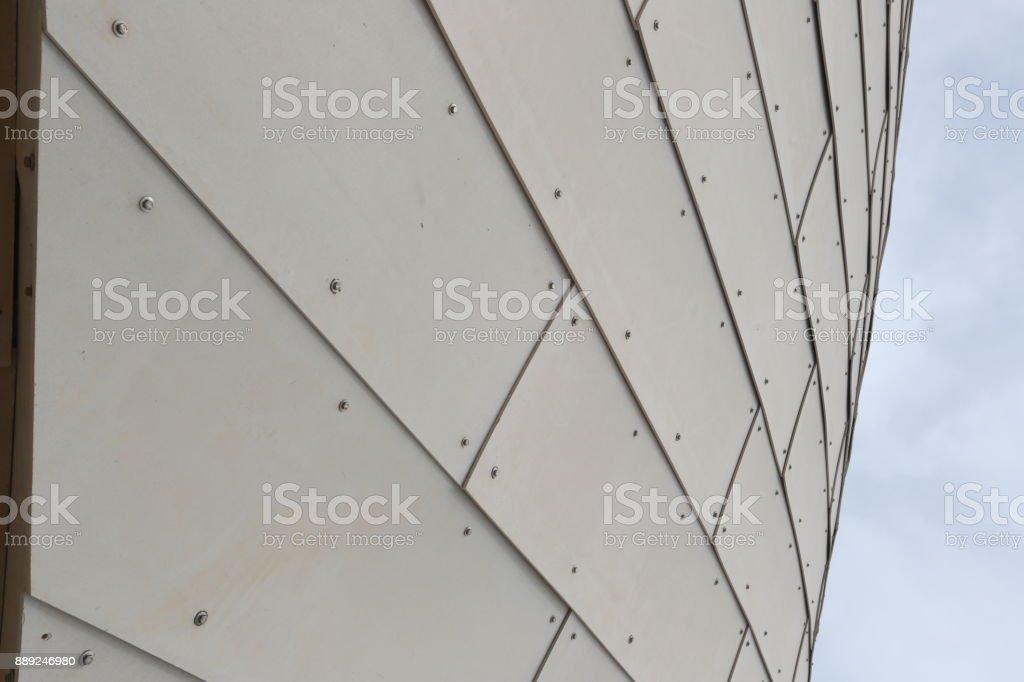 Metallic wall background stock photo