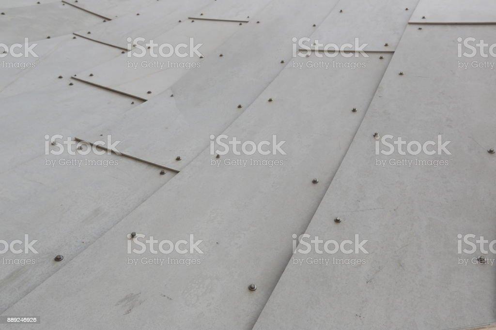 Metallic wall. Close up stock photo