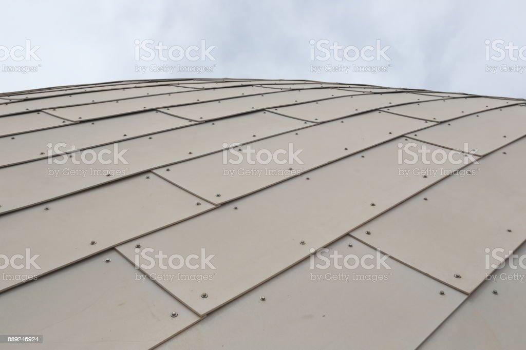 Metallic wall texture stock photo