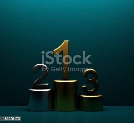 istock Metallic winner podium 185229173