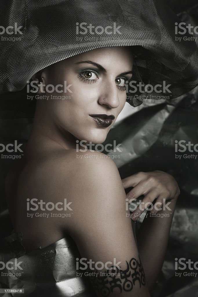 Metallic Woman royalty-free stock photo