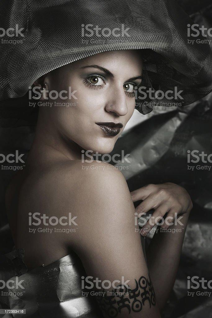 Mujer metálico foto de stock libre de derechos