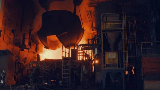 Metallurgische Anlage - Start Stahlofen – Foto
