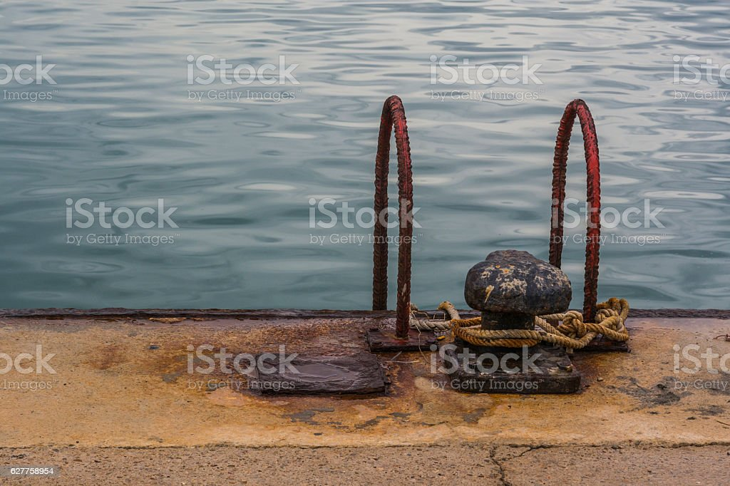 Metals affected by corrosion stock photo