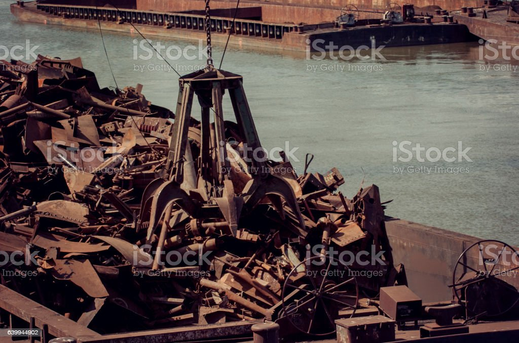 Metals recycling metal claw stock photo